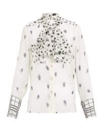 burberry pussy bow blouse at Matches