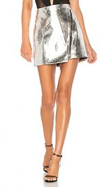 by the way  Nina Metallic Moto Skirt in Silver from Revolve com at Revolve