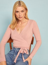 cashmered wrap sweater at Reformation
