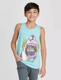 cat and jack Shark Graphic Tank Top at Target
