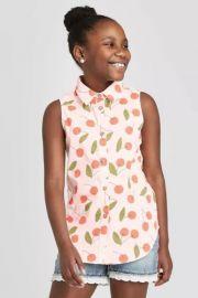 cat jack Cherry Print Sleeveless Woven Top at Target