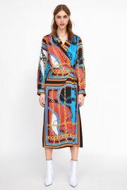 chain print dress at Zara