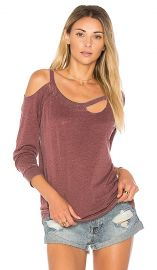 chaser VINTAGE JERSEY DECONSTRUCTED PULLOVER at Revolve