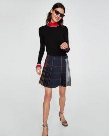 check mini skirt at Zara