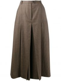check pleated mid-length skirt at Farfetch