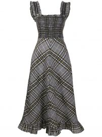 check-print flared dress at Farfetch