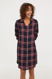 checked shirtdress at H&M