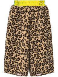 cheetah-print shorts at Farfetch