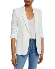 cinq a sept Khloe Crepe 3 4-Sleeve Blazer at Neiman Marcus