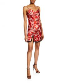 cinq a sept Avalyn Floral-Print Slip Dress at Neiman Marcus