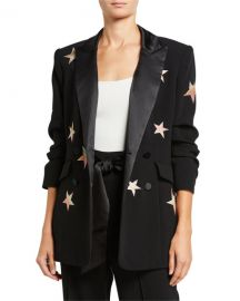 cinq a sept Lila Embroidered Star Blazer at Neiman Marcus