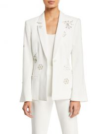 cinq a sept Rumi Shooting Star Embellished Blazer at Neiman Marcus