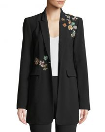 cinq a sept Venus Embellished Single-Button Jacket at Neiman Marcus