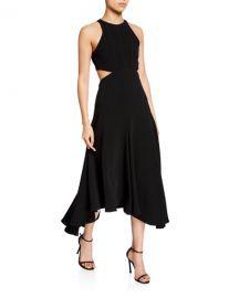 cinq a sept belladonna sleeveless cutout midi dress at Neiman Marcus