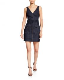 cinq a sept gwyneth sleeveless mini denim dress at Neiman Marcus