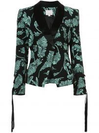 cinq a sept leaf printed blazer at Farfetch