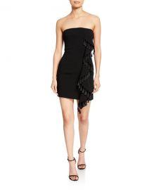 cinq a sept nat strapless mini tassel dress at Neiman Marcus