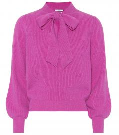 co CASHMERE TIE-NECK SWEATER at My Theresa