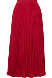 co PLEATED CREPE DE CHINE MIDI SKIRT at Net A Porter