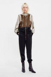 color block jacket at Zara