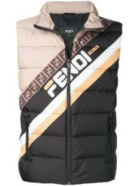 colour-block logo padded gilet at Farfetch