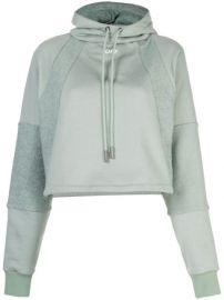 cropped drawstring hoodie at Farfetch