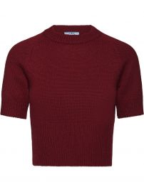 cropped knit T-shirt at Farfetch