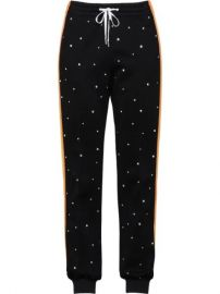 crystal embellished track trousers at Farfetch