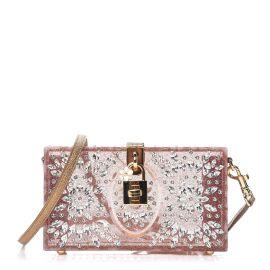 crystal embellished box clutch by Dolce & Gabbana at Farfetch