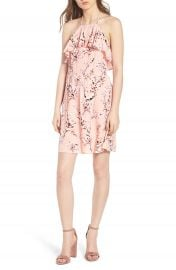 cupcakes and cashmere Corralyn Floral Print Halter Dress at Nordstrom