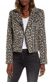cupcakes and cashmere Leopard Moto Jacket   Nordstrom at Nordstrom