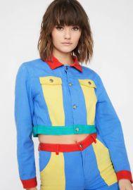current-mood-colorblock-denim-jacket at Dolls Kill