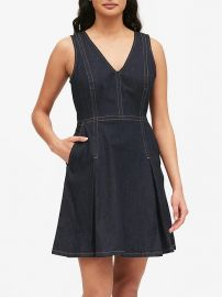 denim dress at Banana Republic
