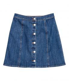 denim skirt at H&M