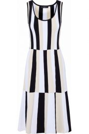 derek lam Paneled striped stretch-knit dress at The Outnet