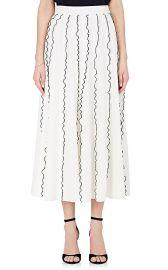 derek lam Ruffle Crepe Midi-Skirt at Barneys Warehouse