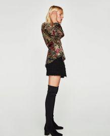 devor   velvet wrap blouse at Zara