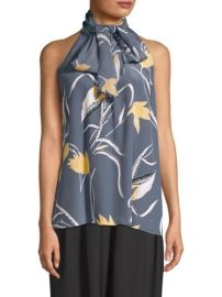 diane von furstenberg high neck top at Saks Fifth Avenue
