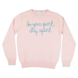 do your part stay apart sweater by Lingua Franca at Lingua Franca
