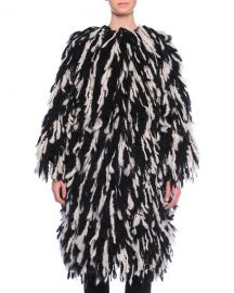 dolce gabbana FRINGE SHAGGY WOOL-BLEND COAT at Bergdorf Goodman
