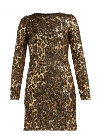 dolce gabbana Leopard-print sequinned mini dress at Matches