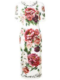 dolce gabbana floral-print dress at Farfetch