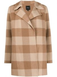 double-faced check coat at Farfetch