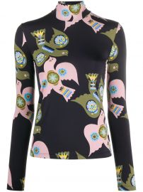 dove-print mock neck top at Farfetch