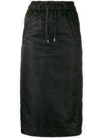 drawstring flared midi skirt at Farfetch