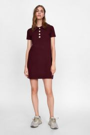dress with faux pearls at Zara