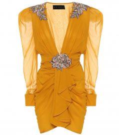 dundas Embroidered Silk-Chiffon Dress at My Theresa