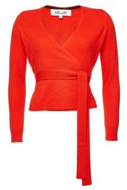 dvf BALLERINA CASHMERE WRAP PULLOVER at Stylebop