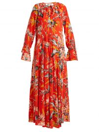 dvf Bethany floral-print silk dress  at Matches