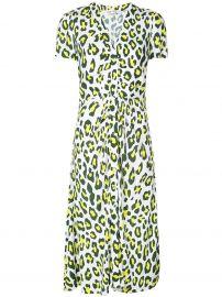 dvf Cecilia leopard print dress at Farfetch